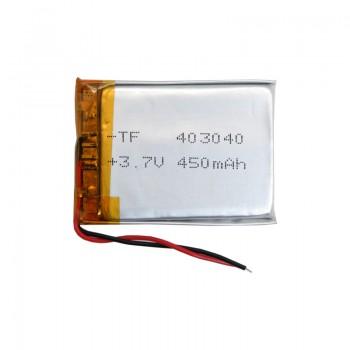 باتری لیتیومی 3.7V 450mAh دارای برد محافظ