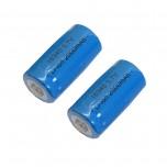 بسته 2 تایی باتری لیتیوم یون 2000mAh 3.7V سایز 16340