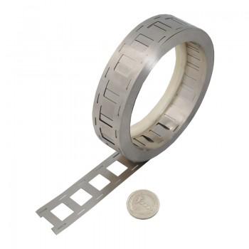 نوار نیکل جوش باتری دارای ضخامت 0.15mm و عرض 27mm