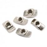 بسته 10 تایی مهره تی مناسب برای اتصال پروفیل های آلومینیومی مهندسی مدل M5-20