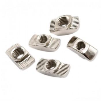 بسته 10 تایی مهره تی مناسب برای اتصال پروفیل های آلومینیومی مهندسی مدل M3-20