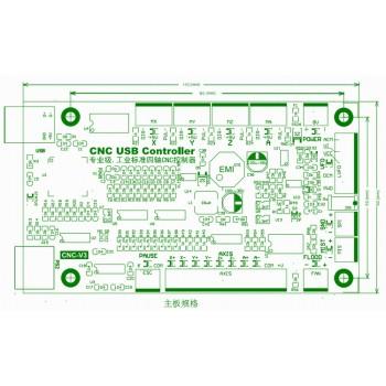کارت کنترلر دستگاه CNC چهار محور با پشتیبانی از نرم افزار USBCNC و دسته کنترل حرکت