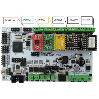 برد کنترلر پرینتر سه بعدی +MKS Rumba