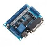 کارت کنترلر دستگاه CNC پنج محور با پشتیبانی از نرم افزار MACH3 دارای پورت LPT