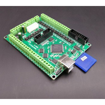 برد کنترلر دستگاه CNC و برش لیزر  9 محور دارای پورت USB و قابلیت پشتیبانی از نرم افزار USBCNC
