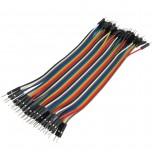 بسته 40 تایی سیم bread board نری به نری 15 سانتی متری ( Dupont Wire )