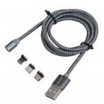 کابل شارژر مگنتی سه سر  یک متری محصول LDNIO