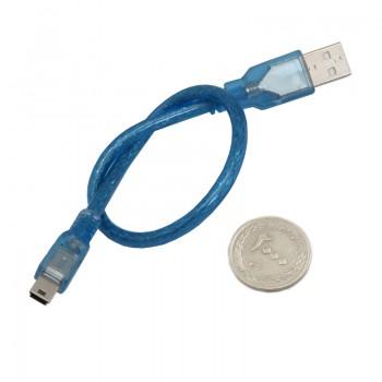 کابل انتقال دیتا 30 سانتی متری مینی USB