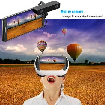 دوربین دو چشمی واقیعت مجازی سه بعدی دارای نرم افزار اندروید / ios و عینک واقعیت مجازی