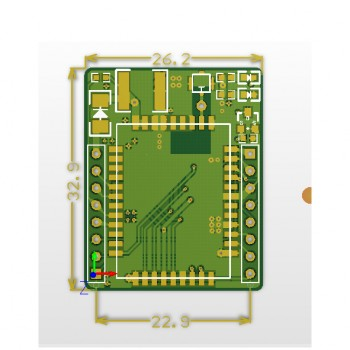 ماژول GPRS / GSM مینی A6 دارای ارتباط سریال