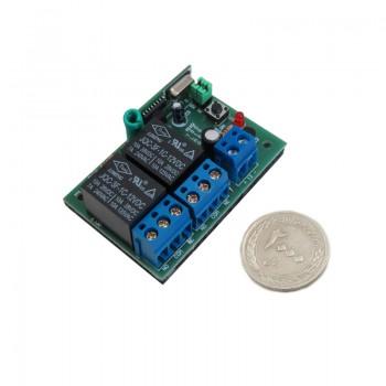 ماژول گیرنده ریموت کنترل دو کاناله کد لرن 12 ولتی 315MHz