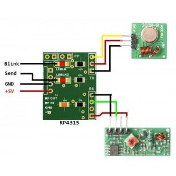 ماژول افزایش برد ریموت کنترل و فرستنده ها (RP4315 (Repeater