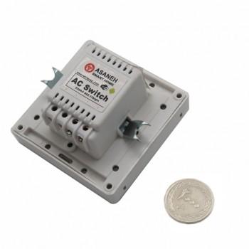 کلید برق لمسی 2 پل با قابلیت کنترل وایفای محصول Asaneh
