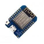 ماژول WeMos D1 Mini V2.3 دارای هسته وایفای ESP8266 و پورت میکرو USB جهت پروگرام