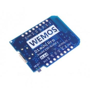 ماژول WEMOS D1 Pro Mini دارای هسته وایفای ESP8266 و پورت میکرو USB جهت پروگرام