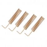 بسته 4 تایی آنتن فنری 29 میلی متری مسی L شکل مناسب برای فرکانس 433MHz