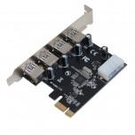 آداپتور مبدل  PCI-E به usb3.0 دارای 4 پورت