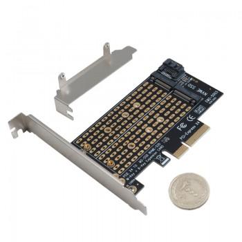 کارت تبدیل PCIE3.0 به پورت SATA و M-key MVME