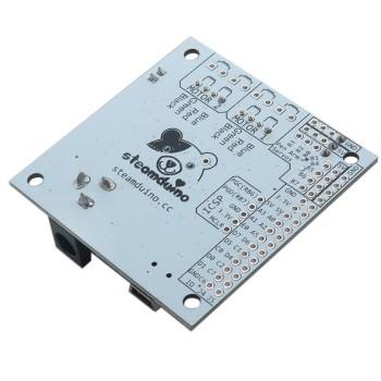 برد کنترلی Steamduino با قابلیت درایور سروو ، استپر و لیزر