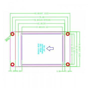 نمایشگر 2.8 اینچی فول کالر تاچ Nextion HMI ورژن پیشرفته دارای ارتباط سریال