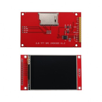 ماژول نمایشگر LCD TFT فول کالر تاچ 2.8 اینچ دارای ارتباط SPI