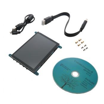 نمایشگر LCD فول کالر 5 اینچ دارای تاچ خازنی و ورودی HDMI