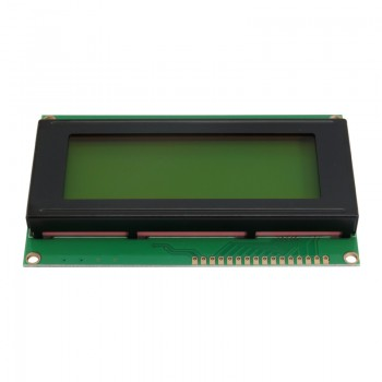 ماژول نمایشگر LCD کاراکتری 2004A دارای رنگ زمینه سبز و ولتاژ کاری 5 ولت