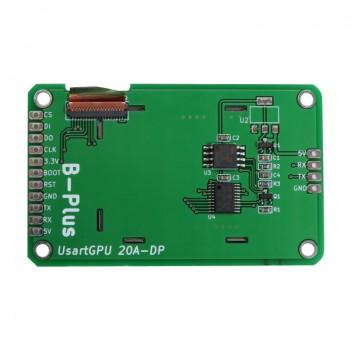 ماژول نمایشگر LCD TFT فول کالر 2 اینچ دارای ارتباط سریال ( Usart GPU )