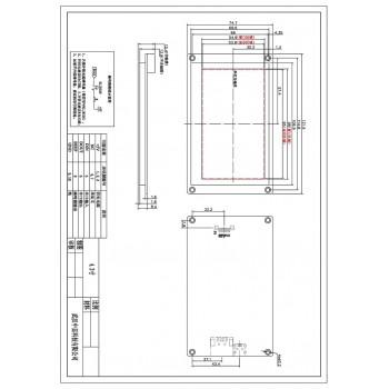 ماژول نمایشگر LCD TFT فول کالر تاچ 4.3 اینچی دارای ارتباط سریال
