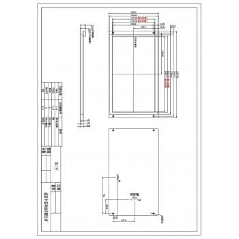 ماژول نمایشگر LCD TFT فول کالر تاچ 10.1 اینچی دارای ارتباط سریال و RTC داخلی
