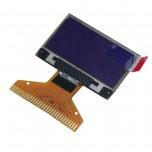 نمایشگر OLED تک رنگ 0.96 اینچ دارای کابل فلت 30 پین  و چیپ درایور SSD1315