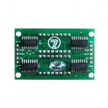 ماژول سون سگمنت 4 رقمی دوبل دارای ممیز ، دو نقطه ساعت و علامت درجه با درایور 74HC595