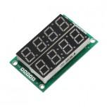ماژول سون سگمنت 4 رقمی دوبل 2 رنگ دارای ممیز ، دو نقطه ساعت و علامت درجه با درایور 74HC595