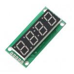 ماژول سون سگمنت 4 رقمی دارای درایور 74HC595 ، ممیز ، دو نقطه ساعت و علامت درجه