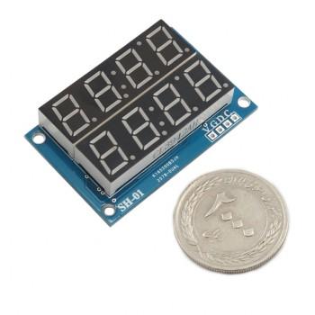 ماژول سون سگمنت 4 رقمی دوبل با درایور TM1640 ، ممیز ، دو نقطه ساعت و علامت درجه
