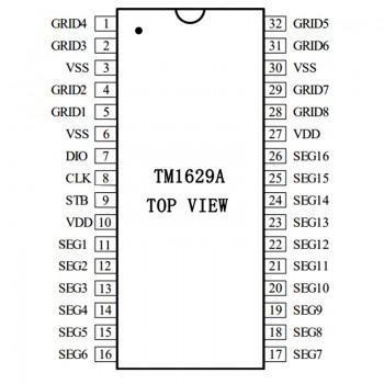 آی سی  درایور TM1629A دارای پکیج SOP32