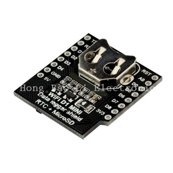 شیلد دیتا لاگر WeMos D1 Mini دارای ساعت DS1307 و سوکت میکرو SD