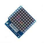 شیلد صفحه نمایش LED ماتریسی WeMos D1 Mini دارای 64 پیکسل ( 8X8 )