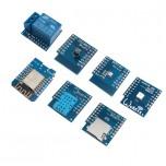 کیت 7 قطعه ای WeMos D1 Mini دارای هسته وایفای ESP8266 ، سنسور ، محرک و ...