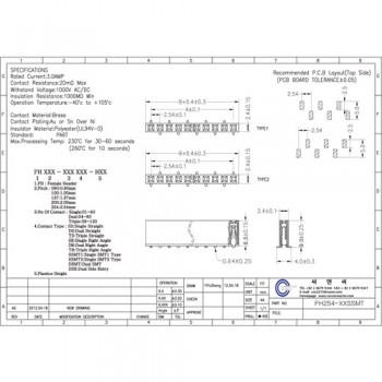 پین هدر 40 * 1 مادگی SMD - فاصله پین 2.54 میلی متر