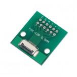 برد آداپتور 12 پین FPC دارای استاندارد 0.5 میلی متری به همراه کانکتور FPC