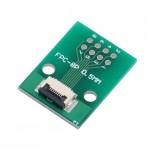 برد آداپتور 8 پین FPC دارای استاندارد 0.5 میلی متری به همراه کانکتور FPC