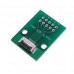 برد آداپتور 10 پین FPC دارای استاندارد 0.5 میلی متری به همراه کانکتور FPC