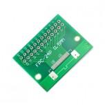 برد آداپتور 24 پین FPC دارای استاندارد 0.5 میلی متری به همراه کانکتور FPC
