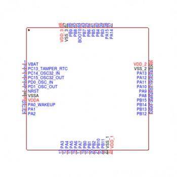 میکروکنترلر GD32F103C8T6 دارای پکیج LQFP48