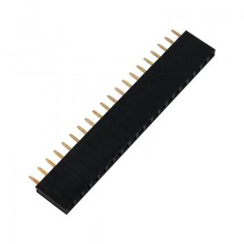 بسته 5 تایی پین هدر 1X20 مادگی مستقیم - فاصله پین 2.54 میلی متر