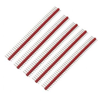 بسته 5 تایی پین هدر 1X40 نری مستقیم - فاصله پین 2.54 میلی متر