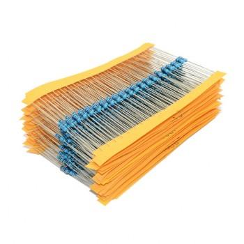 مجموعه 600 تایی انواع مقاومت 10 اهم تا 1 مگا اهم 1/4 وات