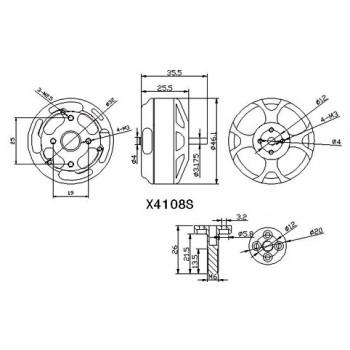 موتور براشلس SUNNYSKY X4108S 600KV Outrunner