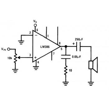 آی سی  آمپلی فایر صوتی LM386 دارای پکیج SOP8